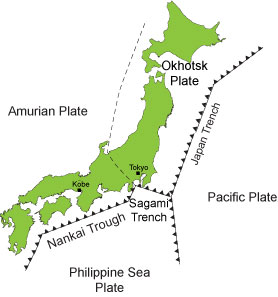 location of japan