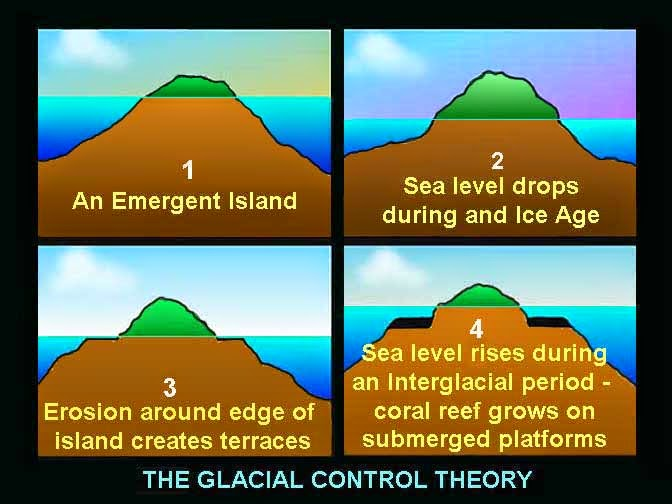 Glacial Control theory on reef formation